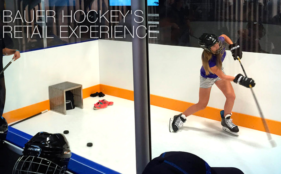 Xtraice has a synthetic ice rink at Bauer stores in North America.