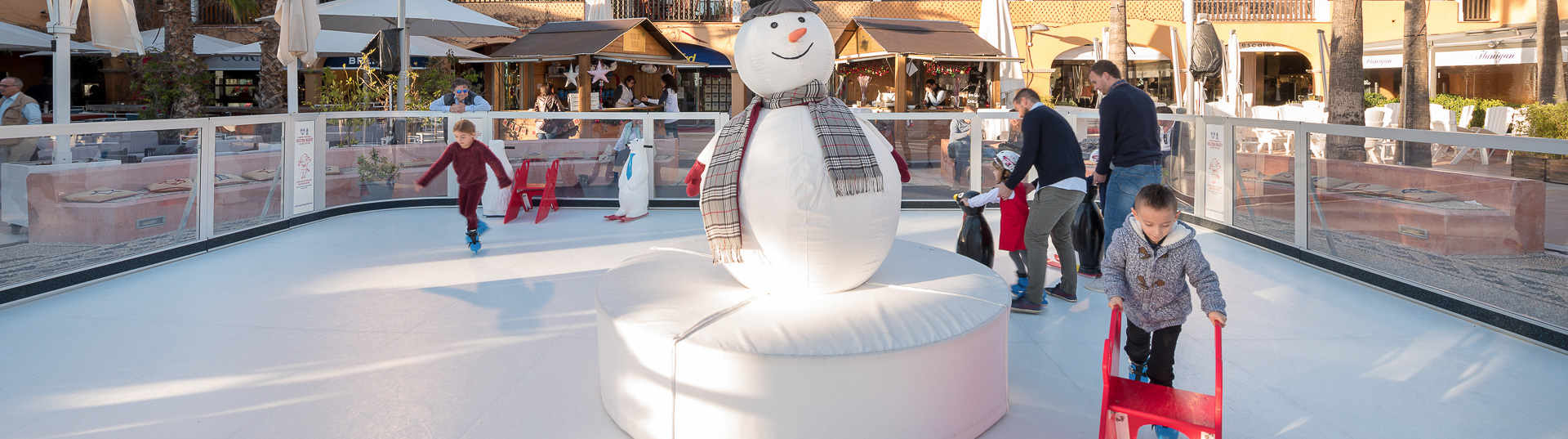 Synthetic holiday ice rink during Christmas| Ask for rental prices