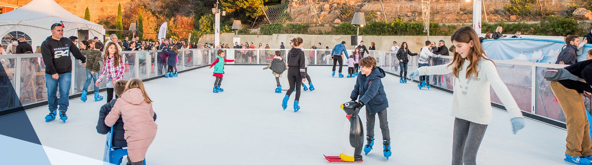 Leisure synthetic ice rink