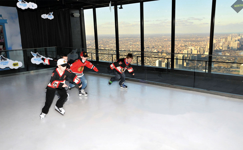 World´s highest ice rink by Xtraice